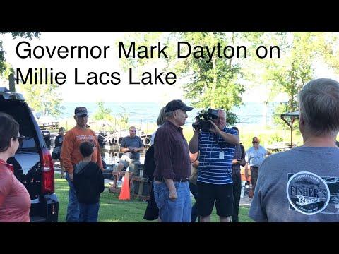 Minnesota Governor Mark Dayton Fishes on Fisher's Resort Boat Launch (4K)