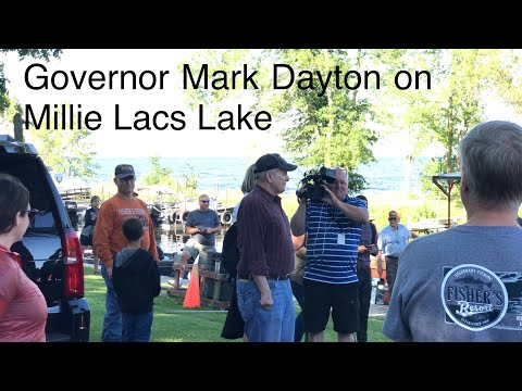 Minnesota Governor Mark Dayton Fishes on Fisher's Resort Boat Launch (4K)