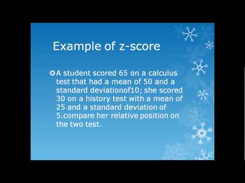 measure of position standard score