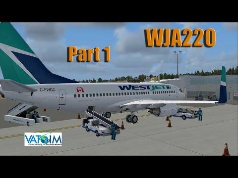 [Part 1] FSX   VATSIM   WestJet   WJA220   Victoria (CYYJ) ✈ Calgary (CYYC)   PMDG 737 NGX