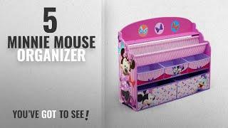 Top 10 Minnie Mouse Organizer [2018]: Delta Children Deluxe Book & Toy Organizer, Disney Minnie