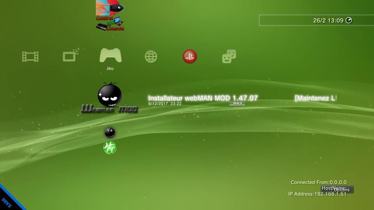 [PKG] PS3 - WEBMAN MOD 1 47 07 || + DOWNLOAD