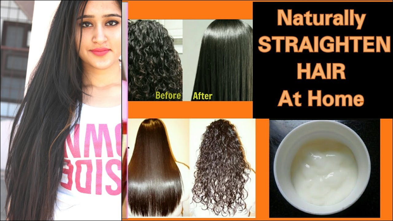 HAIR STRAIGHTENING At HOME (PERMANENT) U0026 NO CHEMICALS.EASY HAIR  STRAIGHTENING CREAM.