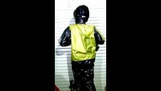 Adidas shiny sauna sweat suit