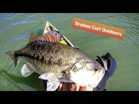 Bass Fishing Broken Bow Lake. First Trip Of The Year!