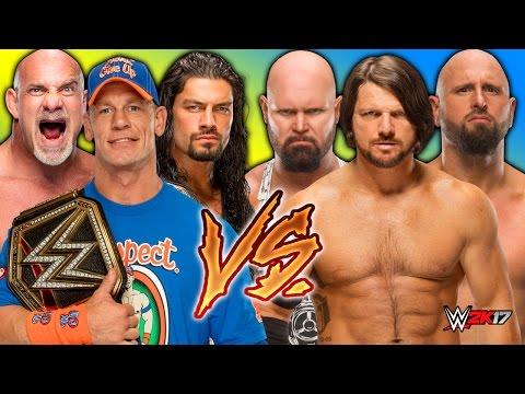 WWE 2K17 - The Club vs. John Cena & Roman Reigns & Goldberg - WWE Smackdown Live 2017