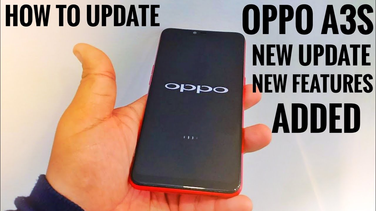 Oppo A3s & A3s Pro Color Os Update