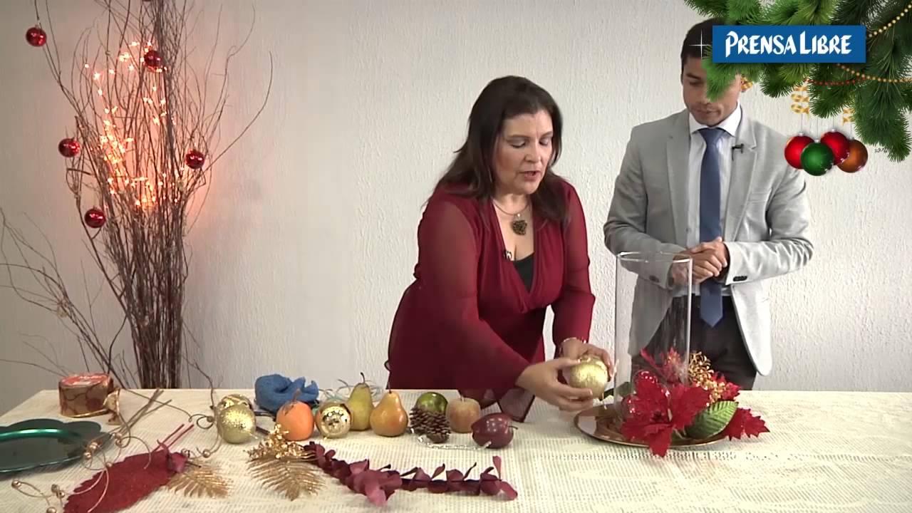 Decoraci n de centro de mesa y montaje completo para la for Adornos con plantas de nochebuena