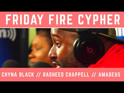 Friday Fire Cypher: Rasheed Chappell and Chyna Black Trade Bars on an Amadeus Beat