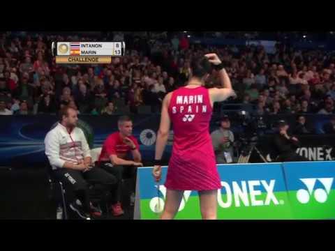 Yonex All England Open 2017 | Badminton QF M4-WS | Ratchanok Intanon vs Carolina Marin