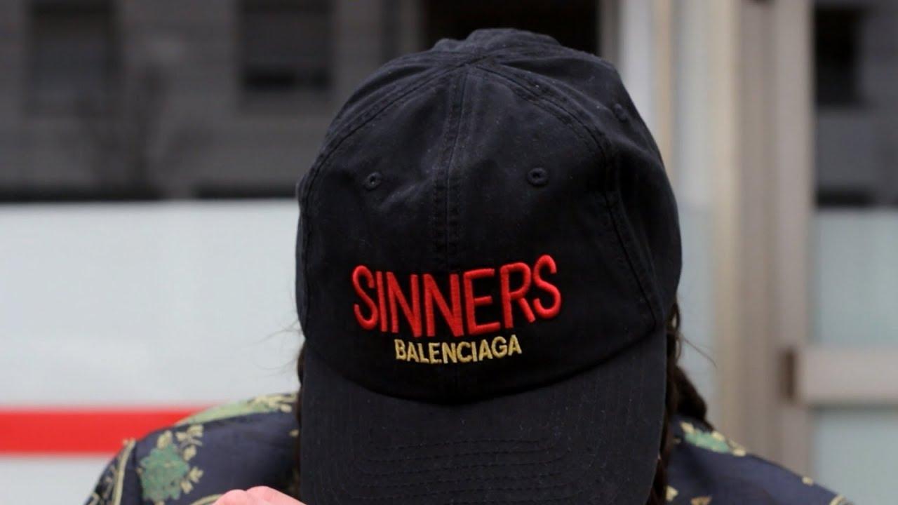 577991a0a2f Balenciaga  Sinners  Cap |OOTD - YouTube