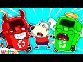 Wolfoo, Let's Tidy Up! - Learn Good Habits for Kids with Garbage Bins | Wolfoo Family Kids Cartoon