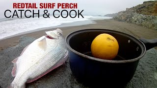 Catch and Cook - Fried Redtail Surf Perch