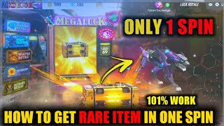 ONLY 1 SPIN GOT  RARE ITEM IN LUCK ROYALE FREEFIRE | 101% FREE PARMANENT GUN SKIN |The Game Infintiz