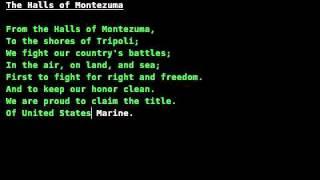 Marine Corps Hymn (all verses)