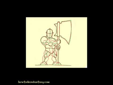 how to draw a dwarf warrior comment dessiner un guerrier nain