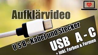 USB - Steckerformen, -farben und -arten