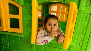 Hide and Seek Pretend Play Fun with Aslı Yaren and Mommy !!! اختبئ وابحث