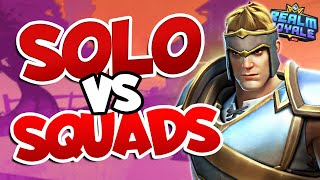 Solo vs Squads with WARRIOR in Realm Royale