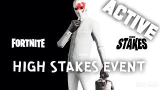 HIGH STAKES EVENT / NEW MAP UPDATE / WILD CARD SKIN / FREE CHALLENGES [FORTNITE]