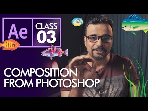 Composition From Photoshop In After Effects  - Urdu Hindi
