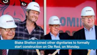 Blake Shelton's Tishomingo entertainment venue, Ole Red, should open later this year