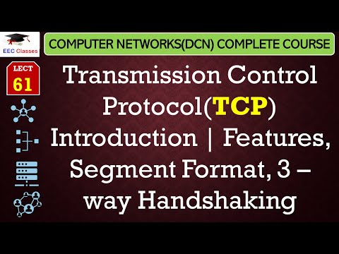 TCP – Transmission Control Protocol, Features, Segment Format, 3 – way Handshaking(Hindi)