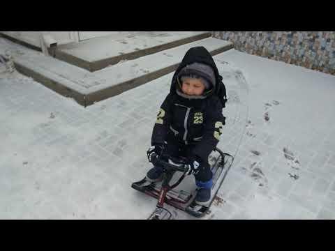 Зима настоящая в Ростове-на-Дону , Снегокат, поход в детский сад