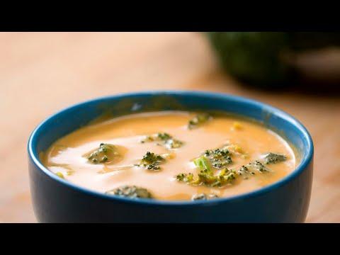 "The Creamiest Vegan ""Cheesy"" Broccoli Soup #VeganWeek"