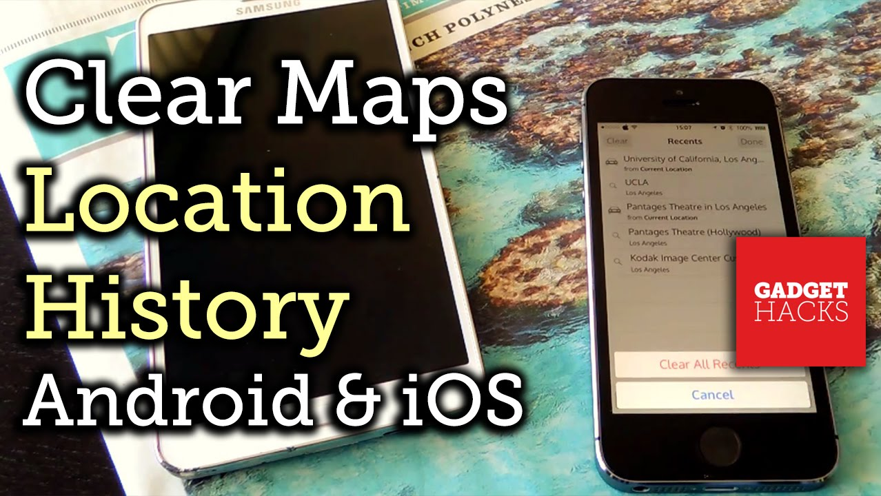 Remove Location History From Apple Maps, Google Maps, & Waze [howto]