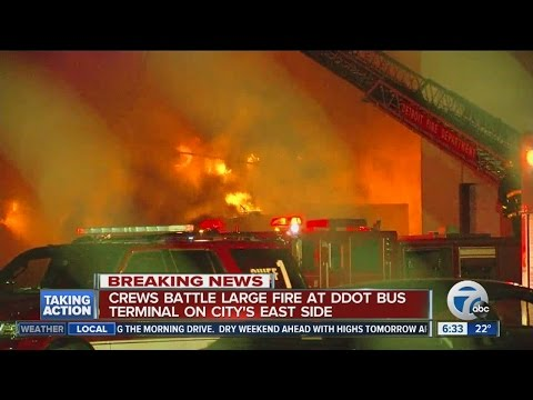 6-8 DDOT buses lost in fire this morning