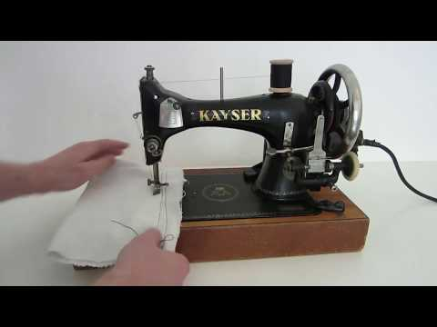 Swing shuttle sewing machine Kayser L spools threading threading sewing from YouTube · Duration:  4 minutes 32 seconds