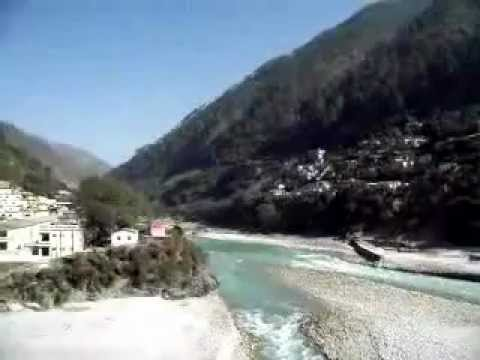 Confluence of rivers at Karnaprayag, Himalaya Mountains, India