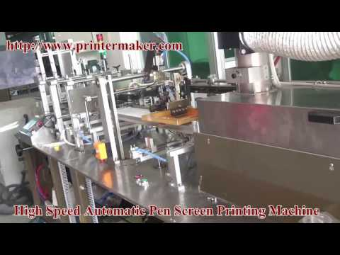 high speed automatic pen screen printing machine