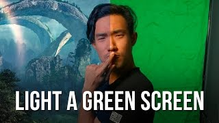 How to Light a GREEN SCREEN in 4 Minutes