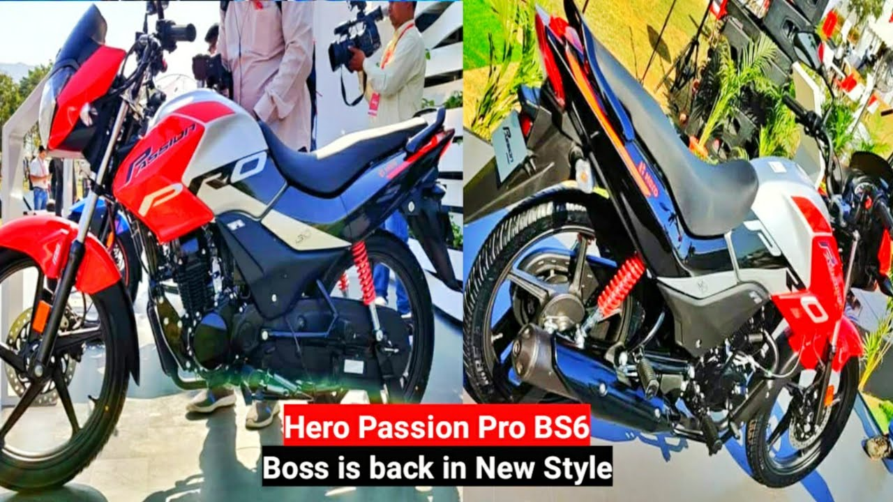 2020 Hero Passion Pro Bs6 Official Launch Specs Bs6 Passion Pro