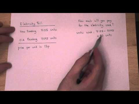 Reading and Calculating electricity bills efficiently