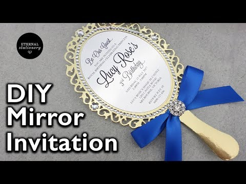 Magical Mirror DIY Princess Birthday Party Invitation tutorial | beauty and the beast inspired