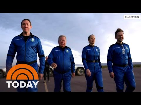 William Shatner And Blue Origin Crew Make Final Preparations Before Launch Into Space