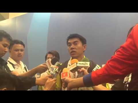 สัมภาษณ์ โค้ชกรกิจ เสริมกิจเสรี หลังทีมเทเบิลเทนนิสสาวไทย พ่าย สิงคโปร์ 2-3 ได้เหรียญเงิน