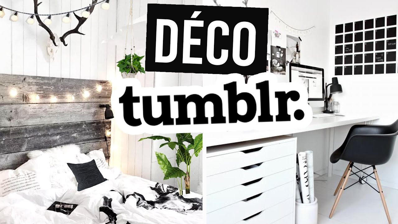comment avoir une d co chambre tumblr youtube. Black Bedroom Furniture Sets. Home Design Ideas