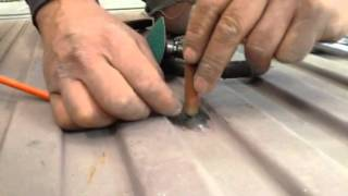 Auto body  how to patch a hole in sheet metal
