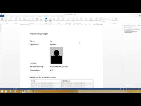 Formular erstellen in Word 2013, 2010