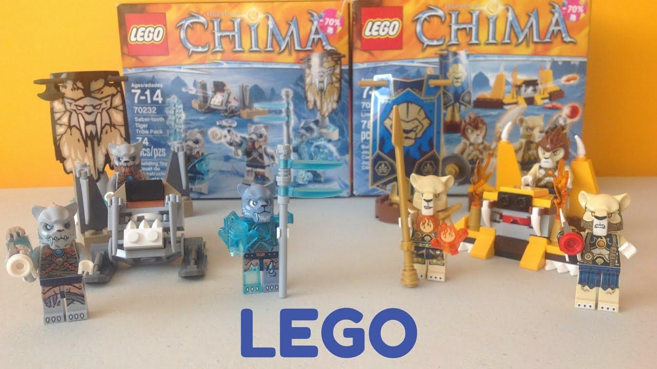 LEGO Chima Tribu Tigre Dientes de Sable Kidsplace Town - YouTube