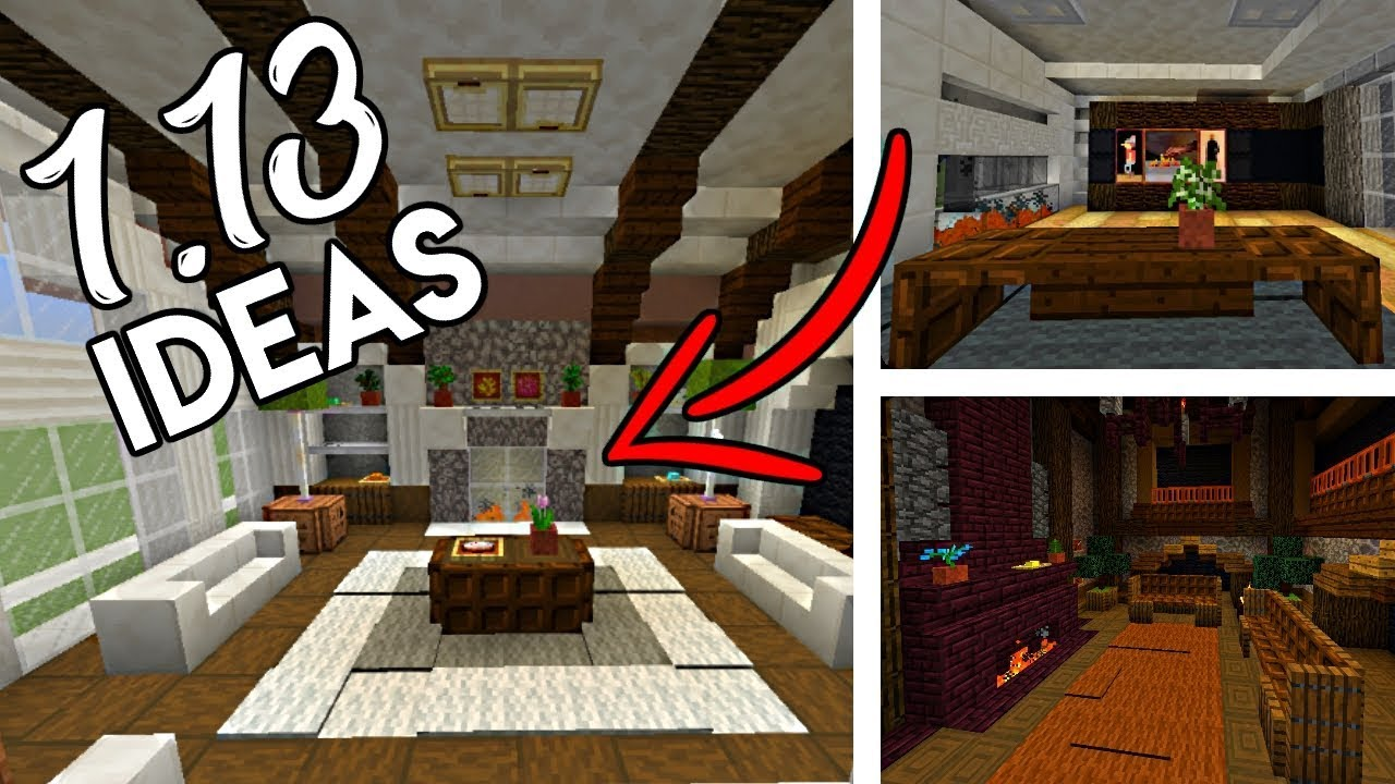Minecraft 1.13 Building Ideas | Furniture, Interiors, Fireplaces and MORE!