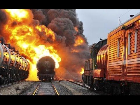Катастрофы на железной дороге. Видео.
