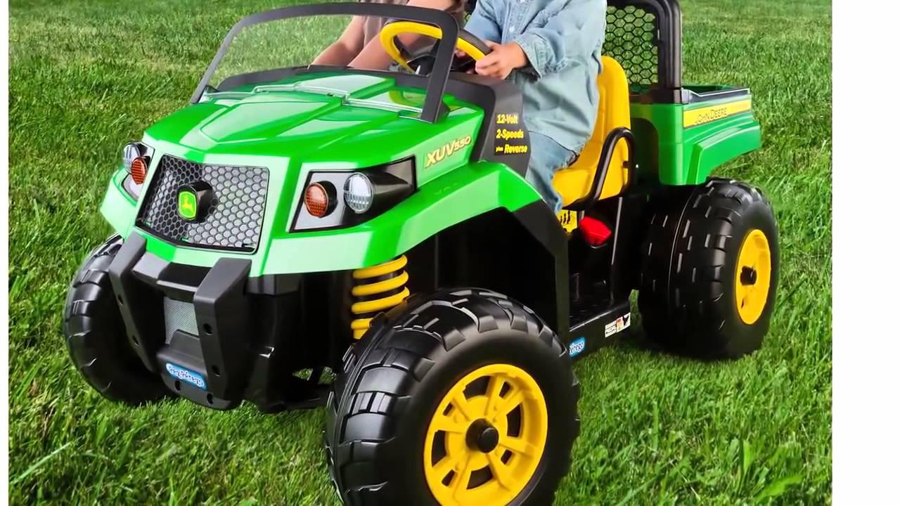 John Deere Ride On Tractor Toy - YouTube