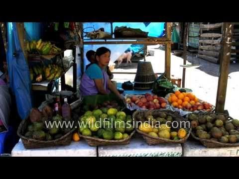 Sohra market in Cherrapunji