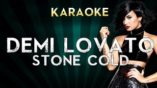 Demi Lovato - Stone Cold | Lower Key Karaoke Instrumental Lyrics Cover Sing Along