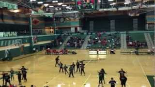 4th graders dancing to gangnam style during halftime